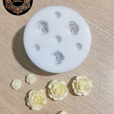 قالب آویز گردن و گوشواره میخی گل رز ۷ تایی