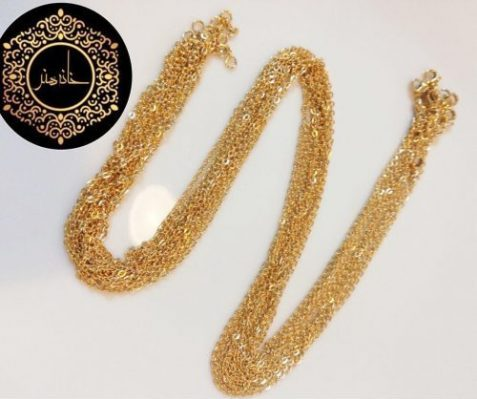 زنجیر استیل دیسکو طلایی