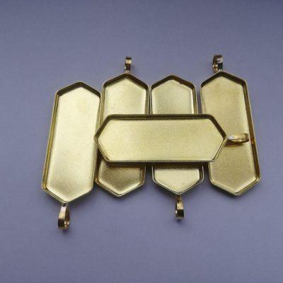 مدال برنجی کفی دار شش ضلعی مدل ۳۰۳