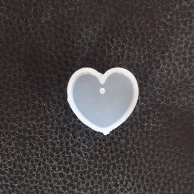 قالب سیلیکونی پلاک گردنبندی مدل قلب