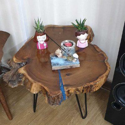میز عسلی با چوب توت