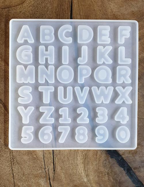 قالب سیلیکونی حروف و اعداد انگلیسی